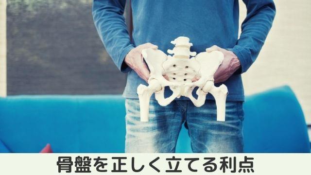 骨盤を正しく立てる利点