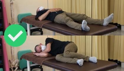 腰痛時におすすめの寝方